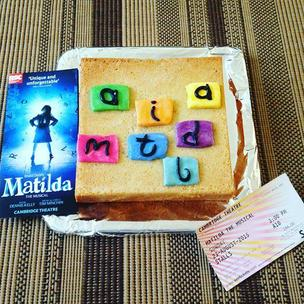 An entry for the #matildabakeoff with great memories of seeing the show! #matildathemusical