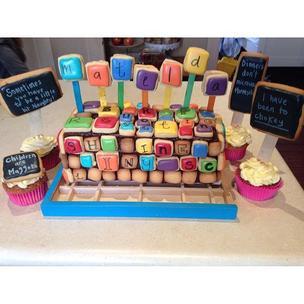 Matilda the musical set design was the inspiration for Jasper's birthday cake#matilda#matildamusical#matildainoz #robhowell#setdesign#musical#homemade#bakingwithboz#madefromscratch#MatildaBakeOff