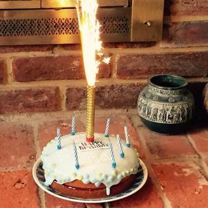 @MatildaMusical #matildabakeoff My children baked a lovely birthday cake for Granpa's 70th! Not Revolting at all!😊❤️🐛 http://t.co/zhUTtexDRZ