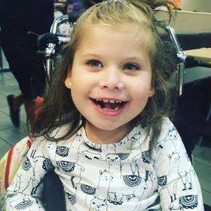 Florie is 6, and lights up a room with that smile. She has a condition called Rett Syndrome and is stuck in a body that doesn't work for her BUT she is a social butterfly, has so many friends and people who love her. She fights everyday! She loves Music too!