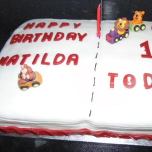 Matilda's Book cake for her first Birthday