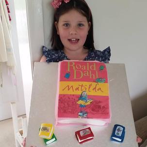 8th Birthday Matilda cake for my daughter Iona.