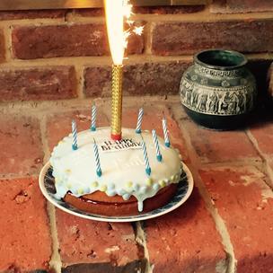 Birthday Cake for Granpa! (Made by his 3 grandchildren!)